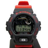 ジーショック カシオ G-SHOCK CASIO 腕時計 DW-6900H 1289 カスタム スラッシャー 3つ目 三つ目 レッド ブラック デジタル FOX FIRE フォックスファイアー メンズ T東大阪店 30129937【USED】