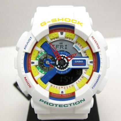 G-SHOCKジーショックCASIOカシオ腕時計GA-111DR-7AJRディー・アンド・リッキーコラボDEEANDRICKYダブルネームレゴブロックアクセサリーホワイトアナデジビッグフェイスメンズ東大阪店141632【Aランク】