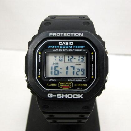 G-SHOCKジーショックCASIOカシオ腕時計DW-5600C-1角型モデル海外モデルスピードスクリューバック200M防水ブラックメンズヴィンテージデジタルクォーツ東大阪店127902【USED】