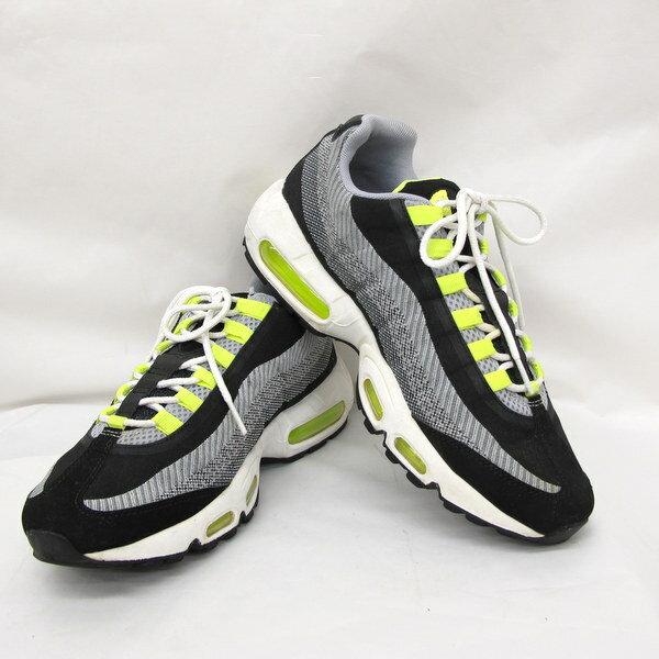 NIKEナイキスニーカー靴644793-002AIRMAX95JCRDエアマックス95ジャガードダークグレーブラック26.5cmメンズ