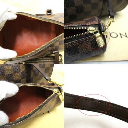 LOUISVUITTONルイヴィトンバッグダミエパピヨンハンドバッグ新型N51303ポーチ/保存袋付レディース【USED】
