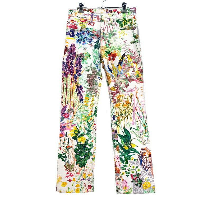 メンズファッション, ズボン・パンツ HELMUT LANG 05SS Floral Jeans PRINTED DENIM LOW WAIST BOOT CUT Archive ITAQKGCAGU0I RM1280I