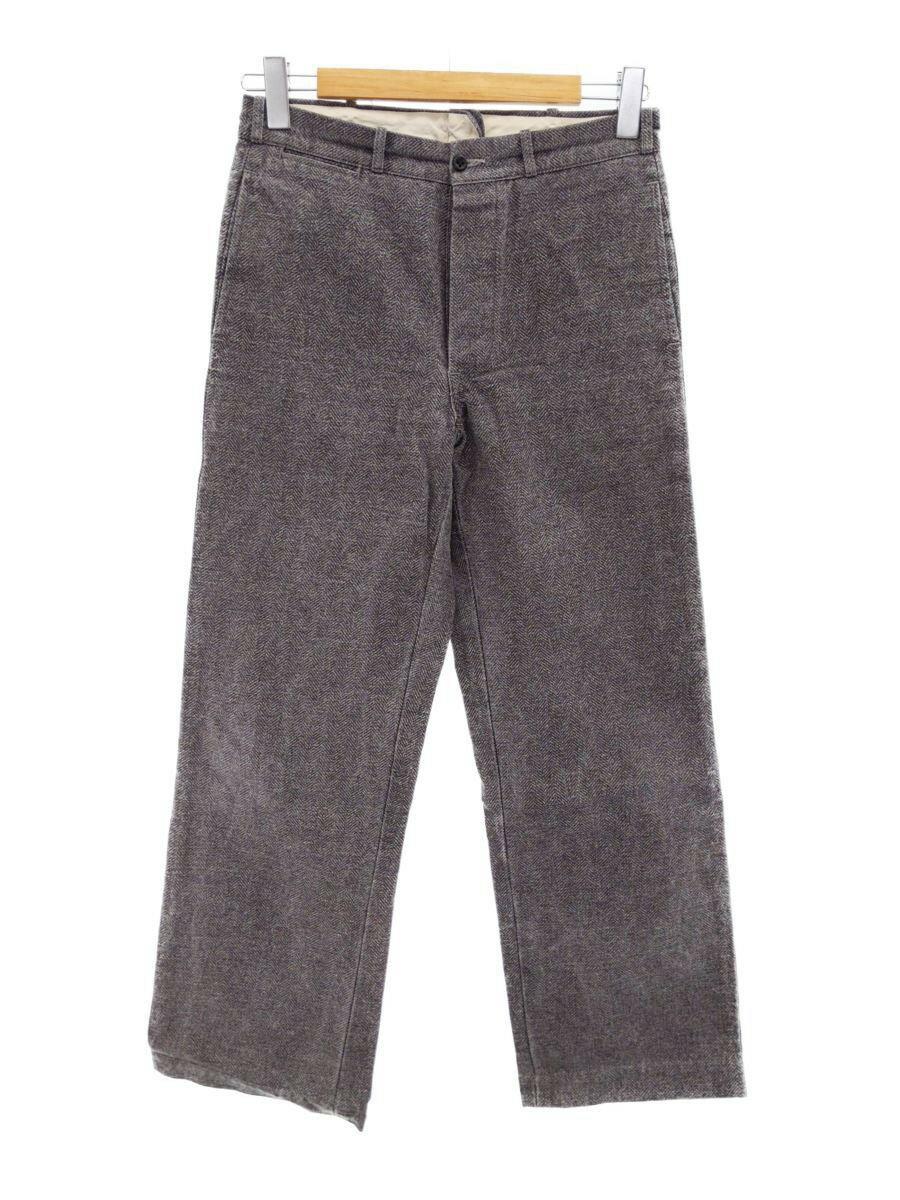 メンズファッション, ズボン・パンツ HELLERS CAFE Cotton Print Gray-Herringbone Trouser ITBCHG49SFCE RM8AH