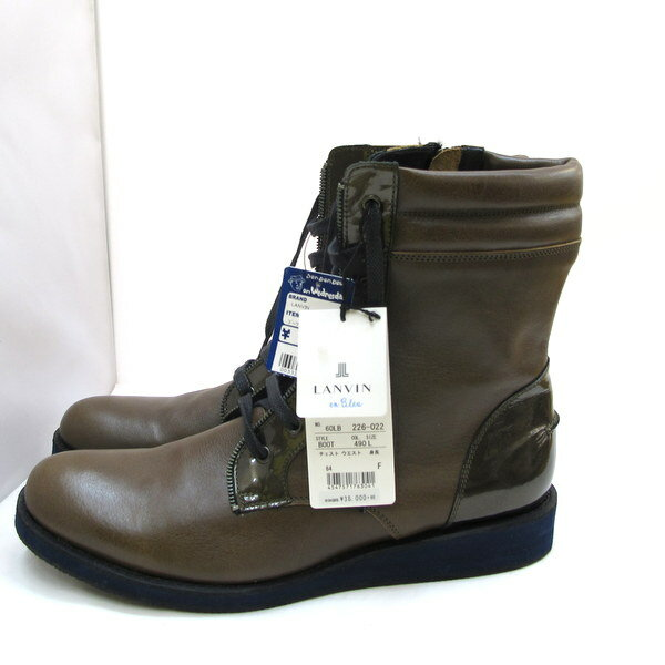 LANVINランバンレースアップブーツLサイズ牛革60LB226,022ブーツブラウンレザーメンズ靴