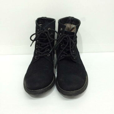 nano universe ナノユニバース スエードブーツ 加工 レザー 皮革 ブラック 黒 靴 メンズ サイズ41 三国ヶ丘店 652553 【中古】 RM1317