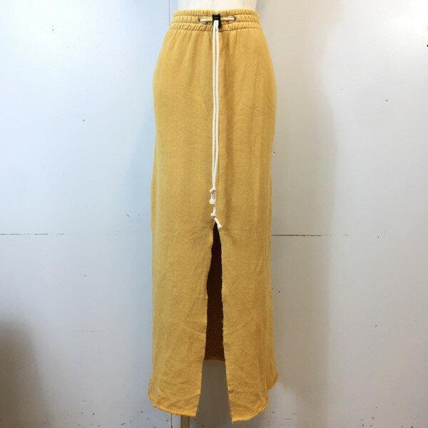 ボトムス, スカート journal standard Furniture ACASAM SWEAT MAXI SKIRT yellow FREE 759426 A RK794G