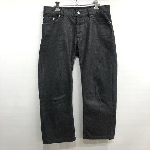 メンズファッション, ズボン・パンツ HELMUT LANG 1998 COATED BLACK DENIM BOOT CUT 30 534834 RM0635I