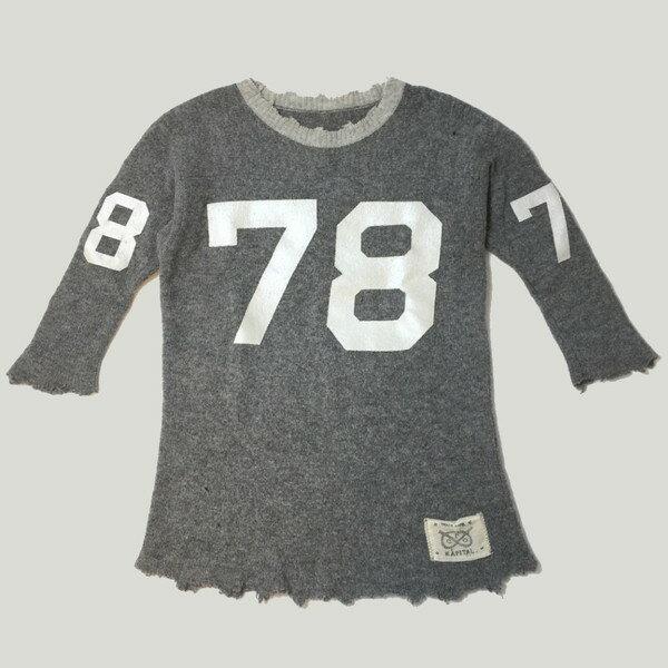 ニット・セーター, セーター KAPITAL Lamb wool BORO football knit K811KN249 2008 )20,790- gray 1 S 776652 RK893G