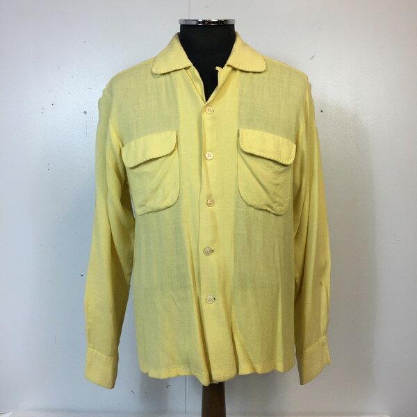 トップス, カジュアルシャツ LANCER 50s 50 yellow M 829907 RK1355G