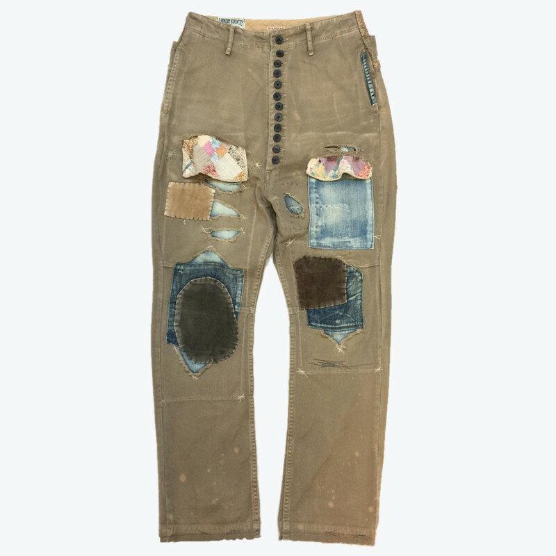 ボトムス, パンツ KAPITAL KOUNTRY Damaged Piero Pants 2011 SUMMER KOUNTRY MONTH 11SS BORO REDUX 0XS 937640RK1930G