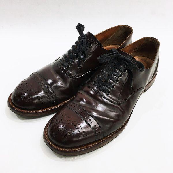 Needles ニードルズ shell cordovan brogue shoes 革靴 ブラウン メンズ 8 日本製 三国ヶ丘店 733756 【中古】 RM4789画像