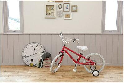 GraphicDesign【軽量アルミフレーム】◆arcoba◆アルコバ18インチ子供用自転車幼児車TEKTROブレーキ・ホワイトパーツ子ども用自転車【送料無料】送料込補助輪付