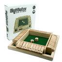 シャット・ザ・ボックス サイコロゲーム ボードゲーム パーティー ゲーム ダイス さいころ 木製 知