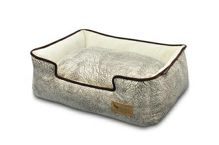 【pet】ラグジュアリーベッド『P.L.A.Y』  ラウンジベッド(箱型) Sサイズ SAVANNAH(サバンナ) グレー