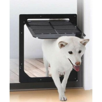 ●【送料無料】網戸専用 犬猫出入り口 Lサイズ(中型犬用) PD3742「他の商品と同梱不可」