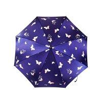 日本の職人手作り蝶二段式折りたたみ傘紺(ネイビー)CMM102A