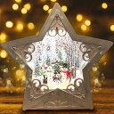 【数量限定100個 クリスマス 飾り スノードーム】マジカルスノーマン おしゃれ LED オルゴール ライト ランタン クリスマスプレゼント(星型スノーマン)・・・