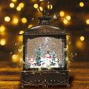 【数量限定100個 クリスマス 飾り スノードーム】マジカルスノーマン おしゃれ LED オルゴール ライト クリスマスプレゼント(ランタン タイプA スノーマン)・・・