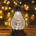【数量限定100個 クリスマス 飾り スノードーム】マジカルスノーマン おしゃれ LED オルゴール ライト クリスマスプレゼント(ランタン タイプC スノーマン)・・・