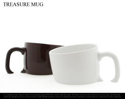 テーブルに埋まっているようなマグカップTREASURE MAG / トレジャーマグ /マグカップ コップ ...