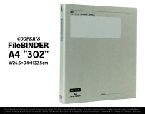 "Cooper'sBinderA4Regular""302""/クーパーズバインダーA4レギュラー""302""W26.5×D4×H32.5cmバインダーファイルルーズリーフ書類紙文房具事務用品"