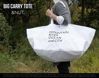 BIGCARRYTOTE/ビッグキャリートート&NUT/アンドナット買い物袋トートバッグ大容量71Lテフロン