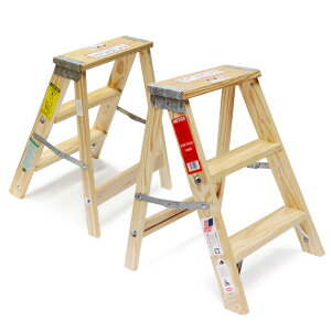 """【木製脚立】WoodStepLadder""""Size2″/ウッドステップラダー""""サイズ2""""MichiganLadder/ミシガンラダー社USAアメリカ製脚立踏み台はしごDAYDETAIL【あす楽対応_東海】"""