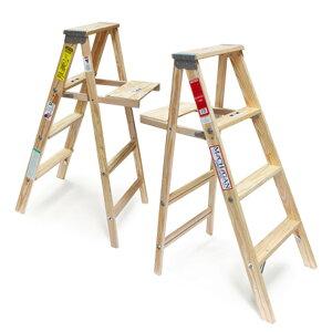 """【木製脚立】WoodStepLadder""""Size4″/ウッドステップラダー""""サイズ4""""MichiganLadder/ミシガンラダー社USAアメリカ製脚立踏み台はしごDAYDETAIL【あす楽対応_東海】"""