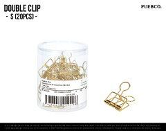 DOUBLE CLIP [ Small 20P ]/ ダブルクリップ ( スモール 20個入 )PUEBCO プエブコ クリップ ゴ...