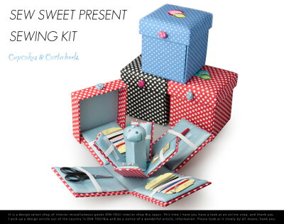 Sew Sweet Present Sewing Kit / スウィート プレゼント ソーイングキット Cupcakes & Cartwhee...