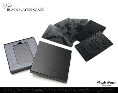 NEW BLACK PLAYING CARDS / ブラックトランプ/Goody Grams グッティーグラムス/トランプ ブラッ...