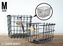 【M】LOCKER BASKET / Mサイズ ロッカーバスケット PUEBCO プエブコ H17× W19×D29cm ワイヤー バスケット 小物入れ スチール 小さなバスケット