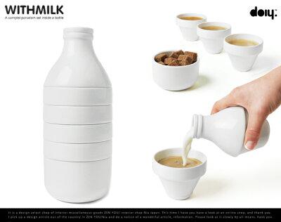 with milk / ウィズ ミルク doiy design / ドゥーアイワイ デザインピッチャー ティー カップ ...
