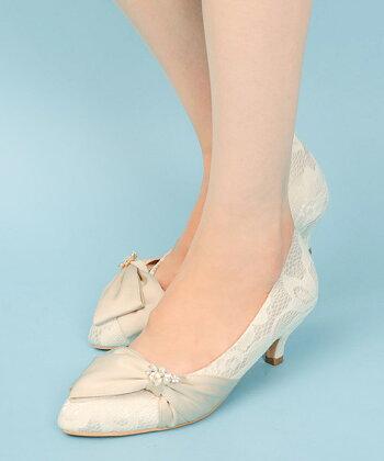 FASHION LETTER ビジュー&パール パーティーパンプス 結婚式 パンプス ローヒール レース ビジュー パンプス パーティー 痛くない オケージョン セレモニー 入学式 ヒール 4cm 靴 大きいサイズ 小さいサイズ レディース 靴 シューズ 22.0cm 23.0cm 24.0cm 24.5cm