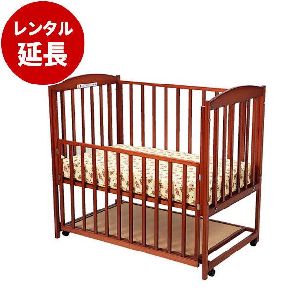 国産木製ベビーベッドすやすやブラウン120(マット別)【レンタル延長】※現在商品をご利用中のお客様が対象です。