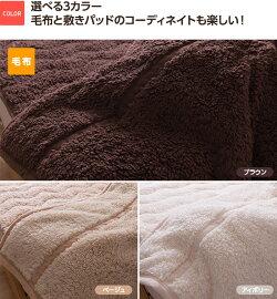 A)【送料無料】HeatWarm(ヒートウォーム)発熱あったか2枚合わせ毛布・敷パッド(シングルサイズ)