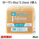 送料無料 太麺 2.2mm 業務用 ボルカノ スパゲッチ【ローマンスパゲッチ 2.2mm(4kg)】(