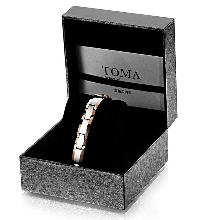 TOMA 1M・1F 十字 磁気ブレスレット 二色 男性or女性 ゲルマニウム:日王株式会社