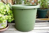 グロウコンテナ35型持ち手付き丸鉢グリーンコンテナポット鉢プランター丸型おしゃれ野菜花観葉植物オリジナル鉢