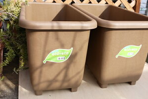 送料無料5個セット!eco&ecoウインプランター深55型ブラウンプランターエコプランター深型大型家庭菜園野菜長方形ゴーヤトマト緑のカーテンナスキュウリ大根にんじん