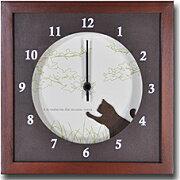 ブラウン テイスト インテリア クロック VerdureClock 掛け時計 スクエアウォールクロック スイープムーブメント