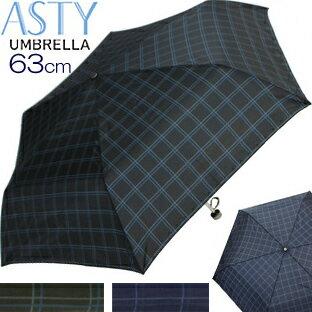 YBB267■ 耐風仕様63cm格子柄大判ミニ折傘 紳士傘60cmより大きいミニ傘軽量ギンガムチェック折りたたみ傘紳士折傘メンズ