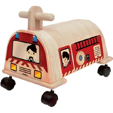 プラントイ 乗用消防車 乗用玩具 ベビー 木馬 乗り物 木のおもちゃ 木製 おもちゃ 足けり 子供用 出産祝い 1歳 2歳 3歳 誕生日プレゼント 誕生日 男の子 男 女の子 女 | 一歳 二歳 幼児 赤ちゃん 二人目 ギフト しょうぼうしゃ オモチャ 室内 足けり乗用玩具 足蹴り乗用玩具