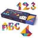 Mideer カラフルタングラム パターンブロック 知育玩具