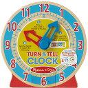 メリッサ&ダグ ターン&テルクロック 知育玩具 時間 時計 木のおもちゃ 3歳 4歳 5歳 木製 知育 子供 誕生日プレゼント バースデー(おもちゃ 子ども こども オモチャ ギフト 木製玩具 子供用 玩具)