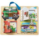 メリッサ&ダグ ロック&ラッチ ボード 知育玩具 3歳 4歳 5歳 パズル 幼児 知育 木のおもちゃ 木製 子供 赤ちゃん 出産祝い 誕生日プレゼント 誕生日 男の子 男 女の子 女 玩具 ベビー 子ども おもちゃ 男児 キッズ