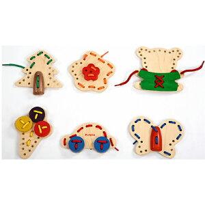 知育玩具 ひも通し 2歳 3歳 4歳 子供 キッズ 誕生日プレゼント 木のおもちゃ 木製 知育 クリス...