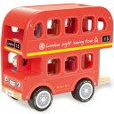 インディゴジャム ロンドンバス 車のおもちゃ 木のおもちゃ 3歳 4歳 5歳 子供 誕生日プレゼント 知育 男の子 男 誕生日 キッズ 子ども ギフト 車 知育玩具 車のおもちゃ 知的玩具 出産祝い | 乗り物 おもちゃ 木製 バス 幼児 海外 輸入 室内 働く車 オモチャ くるま 木製玩具