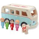 インディゴジャム キャンピングカー 車のおもちゃ 木のおもちゃ 3歳 4歳 5歳 子供 誕生日プレゼント 知育 男の子 男 誕生日 キッズ ギフト 車 知育玩具 車のおもちゃ 知的玩具 出産祝い | 乗り物 おもちゃ 木製 幼児 海外 輸入 室内 オモチャ くるま 木製玩具 のりもの