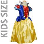 【送料無料】KIDS☆ハート柄の白雪姫ドレスコスチューム衣装【キッズ/コスチューム/ハロウィン】
